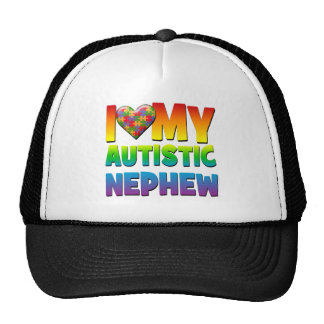 I Love My Autistic Nephew.png Mesh Hat
