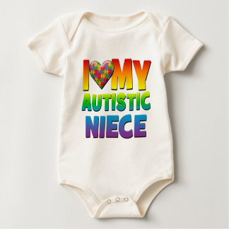I Love My Autistic Niece.png Bodysuits