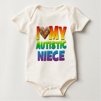 I Love My Autistic Niece.png Bodysuits