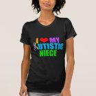 I Love My Autistic Niece Women's Dark T-Shirt