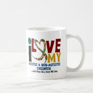 I Love My Autistic & NonAutistic Children 2 AUTISM Coffee Mug
