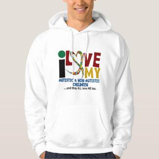 I Love My Autistic & NonAutistic Children 2 AUTISM Hoodie