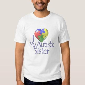 I Love My Autistic Sister Tee Shirt