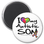 I Love My Autistic Son 6 Cm Round Magnet