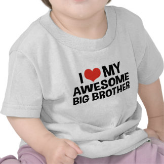 I Love My Awesome Big Brother T Shirts
