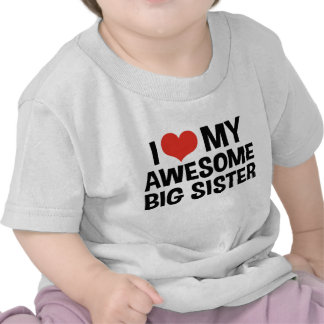 I Love My Awesome Big Sister Shirt