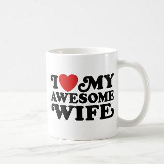 I Love My Awesome Wife Basic White Mug