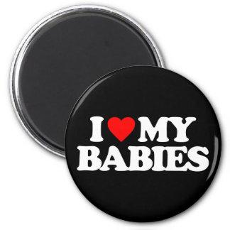 I LOVE MY BABIES FRIDGE MAGNETS