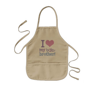 I Love My Baby Brother Kids Apron