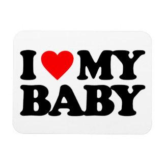 I LOVE MY BABY RECTANGULAR MAGNETS