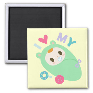 I Love My Baby! Square Magnet