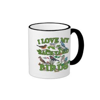 I Love My Backyard Birds Mug