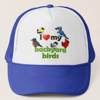 I Love My Backyard Birds Trucker Hat