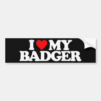I LOVE MY BADGER BUMPER STICKER