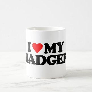 I LOVE MY BADGER COFFEE MUG