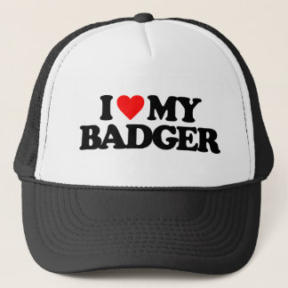 I LOVE MY BADGER TRUCKER HAT
