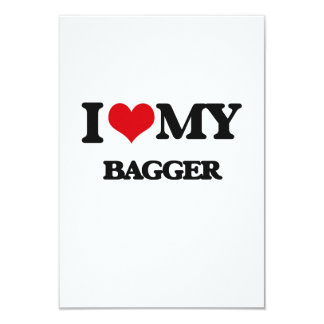 "I love my Bagger 3.5"" X 5"" Invitation Card"