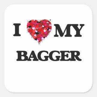 I love my Bagger Square Sticker