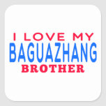 I Love My Baguazhang Brother Square Sticker