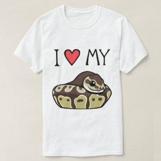 I Love My Ball Python Cute Funny Men's T-Shirt
