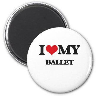I Love My BALLET Fridge Magnets