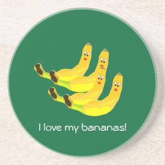 I love my bananas Coaster
