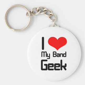 I love my band geek keychain