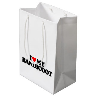 I LOVE MY BANDICOOT MEDIUM GIFT BAG
