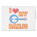 I Love My Banjo Greeting Card