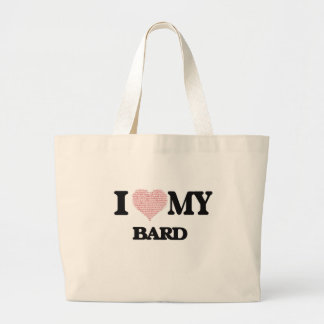 I love my Bard (Heart Made from Words) Jumbo Tote Bag