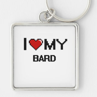 I love my Bard Silver-Colored Square Key Ring