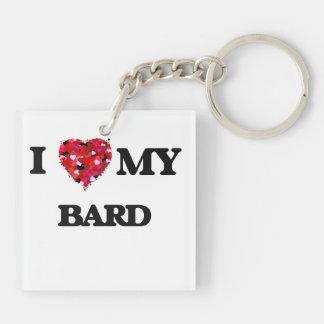 I love my Bard Double-Sided Square Acrylic Key Ring