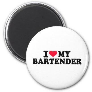 I love my Bartender 6 Cm Round Magnet