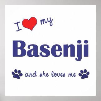 I Love My Basenji (Female Dog) Print