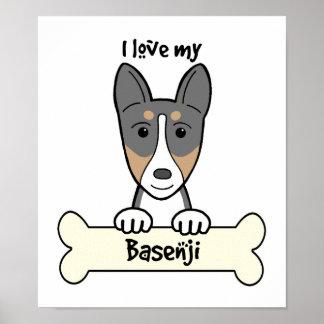 I Love My Basenji Posters