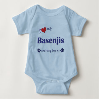 I Love My Basenjis (Multiple Dogs) Baby Bodysuit