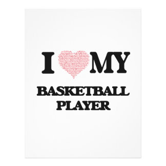 I love my Basketball Player (Heart Made from Words 21.5 Cm X 28 Cm Flyer