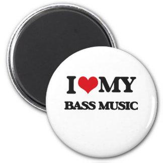 I Love My BASS MUSIC Magnets