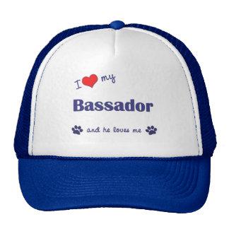 I Love My Bassador (Male Dog) Cap