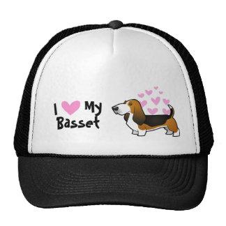 I Love My Basset Hound Cap