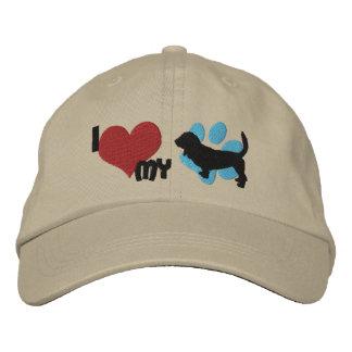 I Love my Basset Hound Embroidered Hat