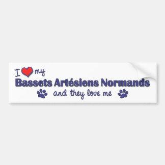 I Love My Bassets Artesiens Normands (Multi Dogs) Bumper Sticker