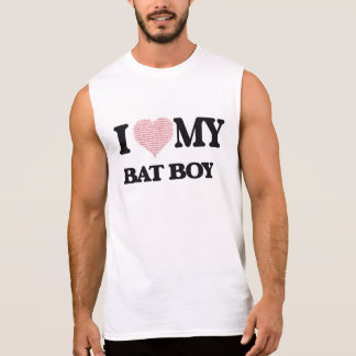 I love my Bat Boy (Heart Made from Words) Sleeveless T-shirt