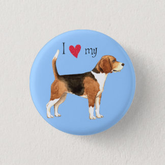 I Love my Beagle 3 Cm Round Badge