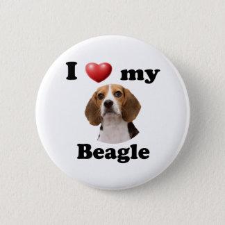 I Love My Beagle 6 Cm Round Badge