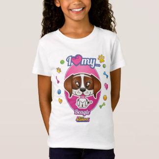 I Love My Beagle Apparel T-Shirt