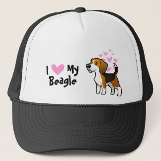 I Love My Beagle Cap