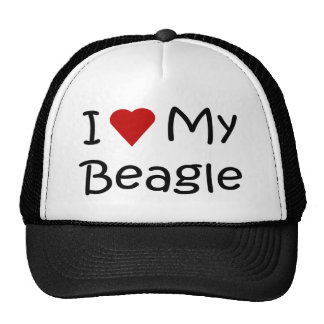 I Love My Beagle Dog Lover Gifts and Apparel Cap