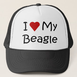 I Love My Beagle Dog Lover Gifts and Apparel Trucker Hat