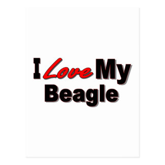 I Love My Beagle Dog Merchandise Postcard